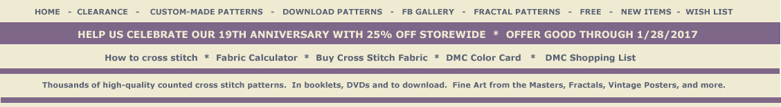 Cross Stitch Collectibles - Fine Art counted cross stitch patterns